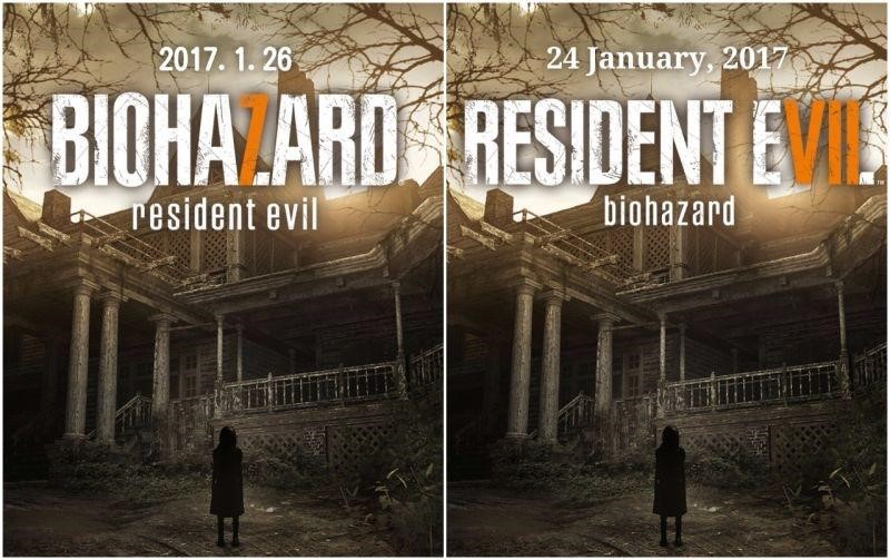 Comparison of two version of Resident Evil 7 poster