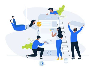 People working together on setting up smartphone - artwork