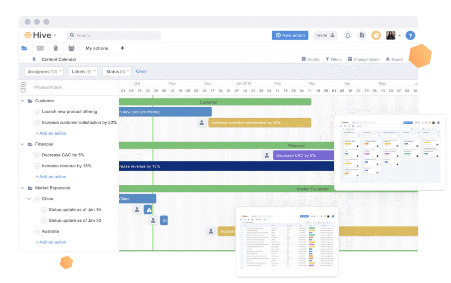 Hive interface screenshot
