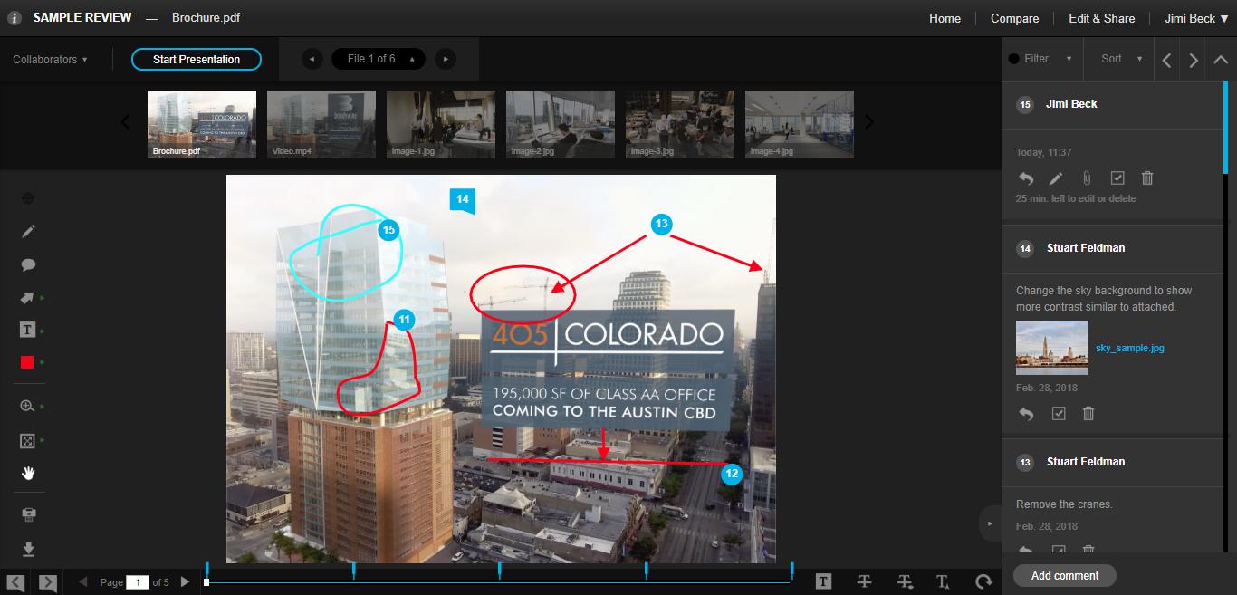 Review Studio compare tool screenshot