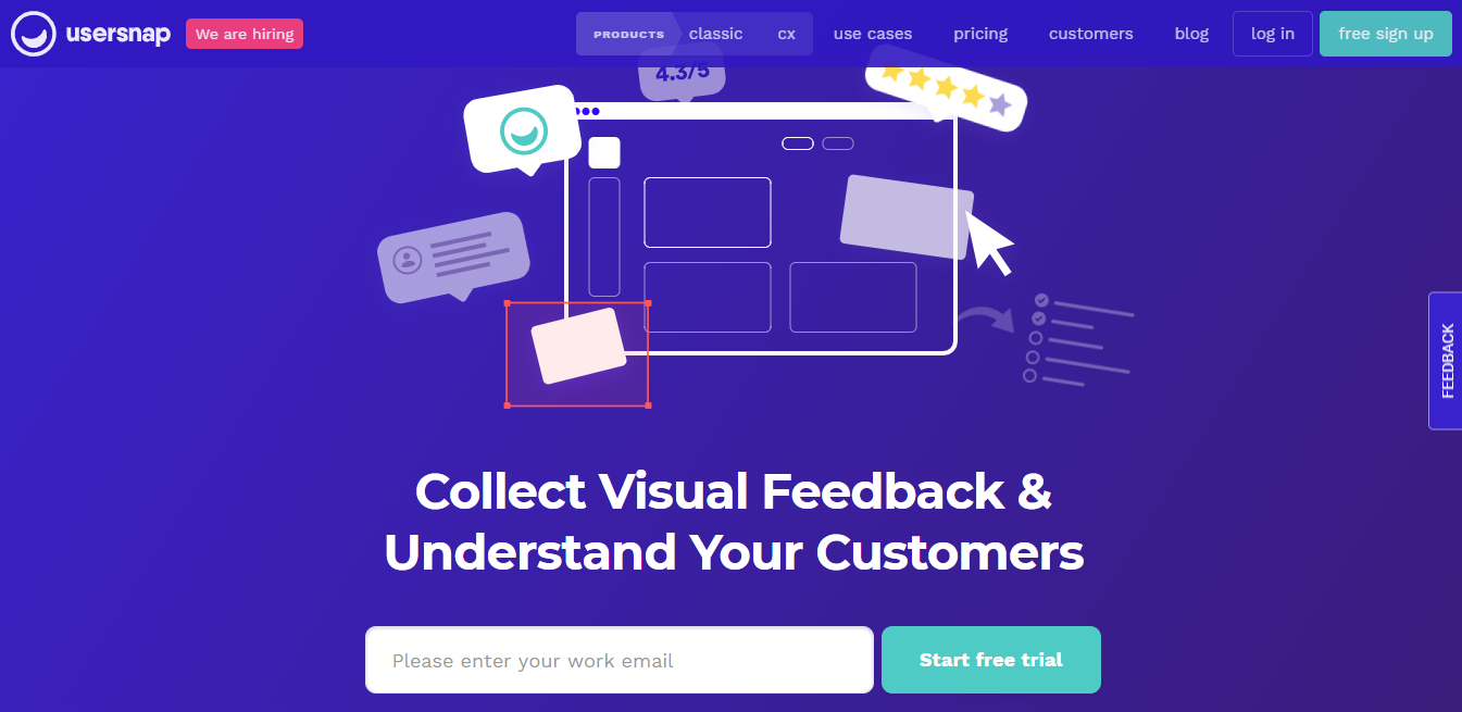 UserSnap homepage
