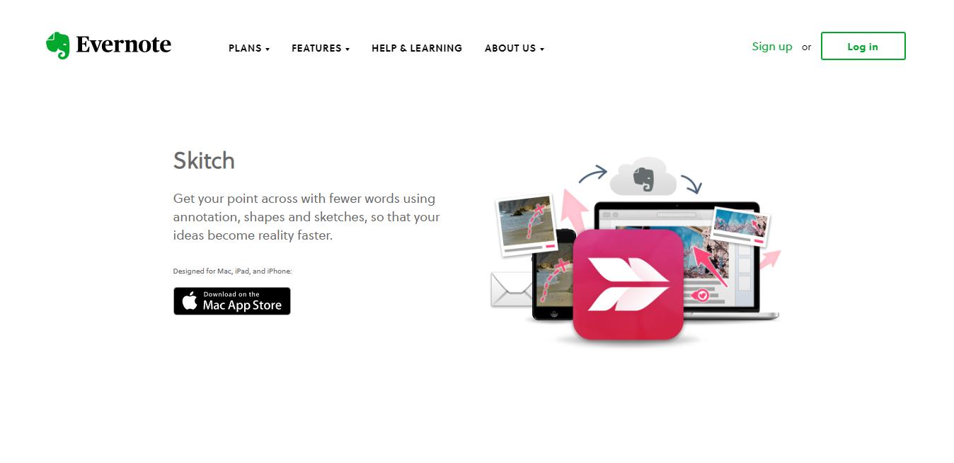 Evernote Skitch homepage