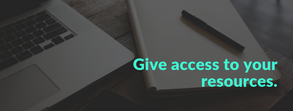 give access to your resources