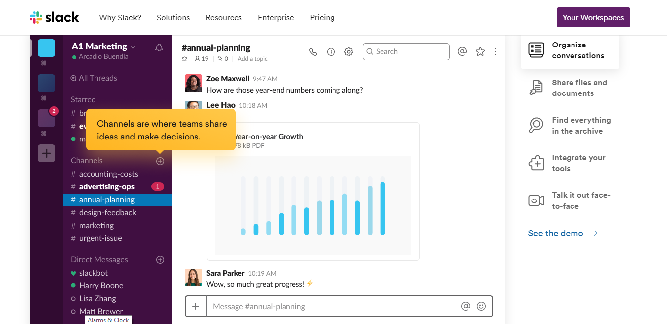 Slack interface screenshot