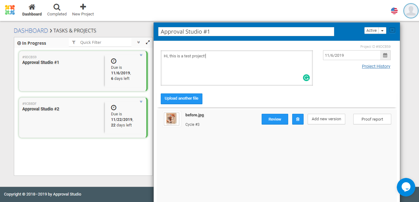 Design Project Management tool of Approval Studio