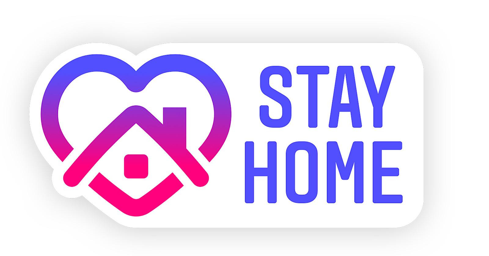 Stay Home Instagram sticker