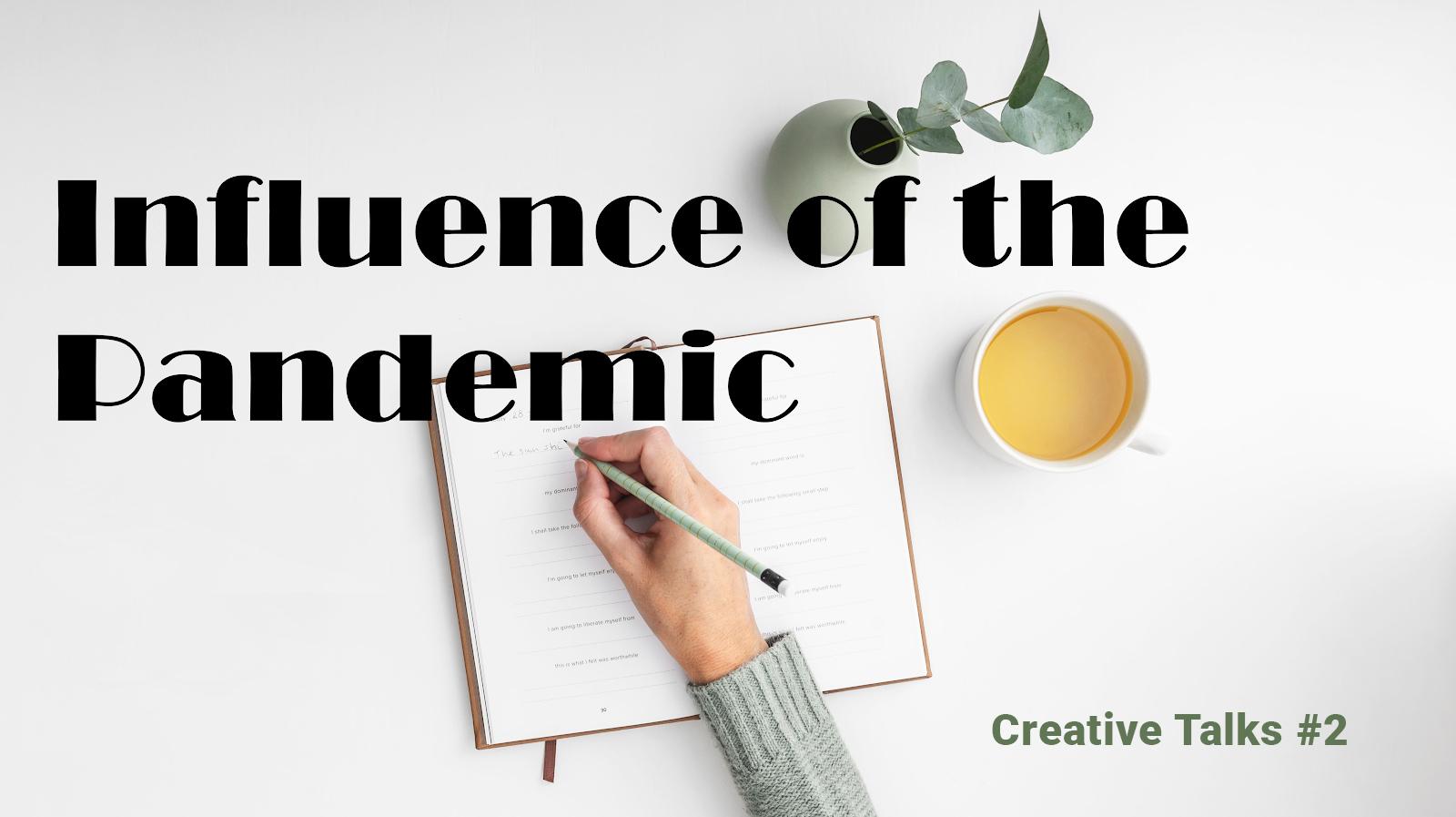 Creative Talks Banner: a hand writing a list