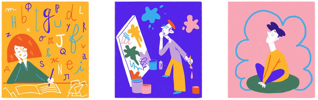 Creative process artwork