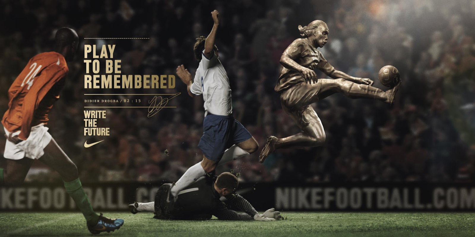"""Play to be remembered"" football ad"