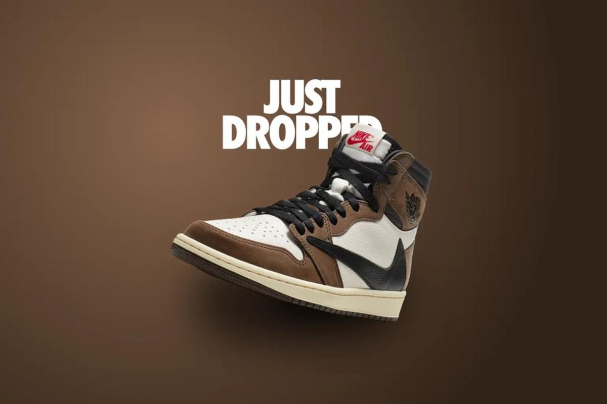 Nike Jordan sneakers with a design touch of Travis Scott