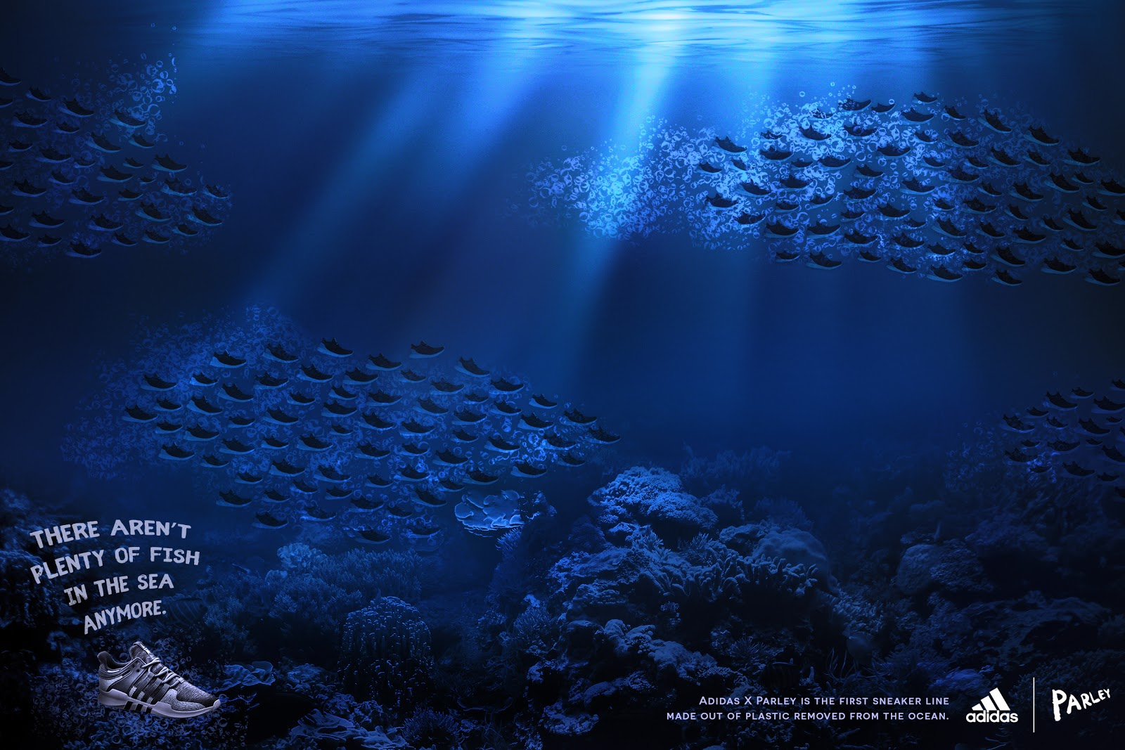 'There Aren't Plenty of Fish in the Sea Anymore' Adidas ad.