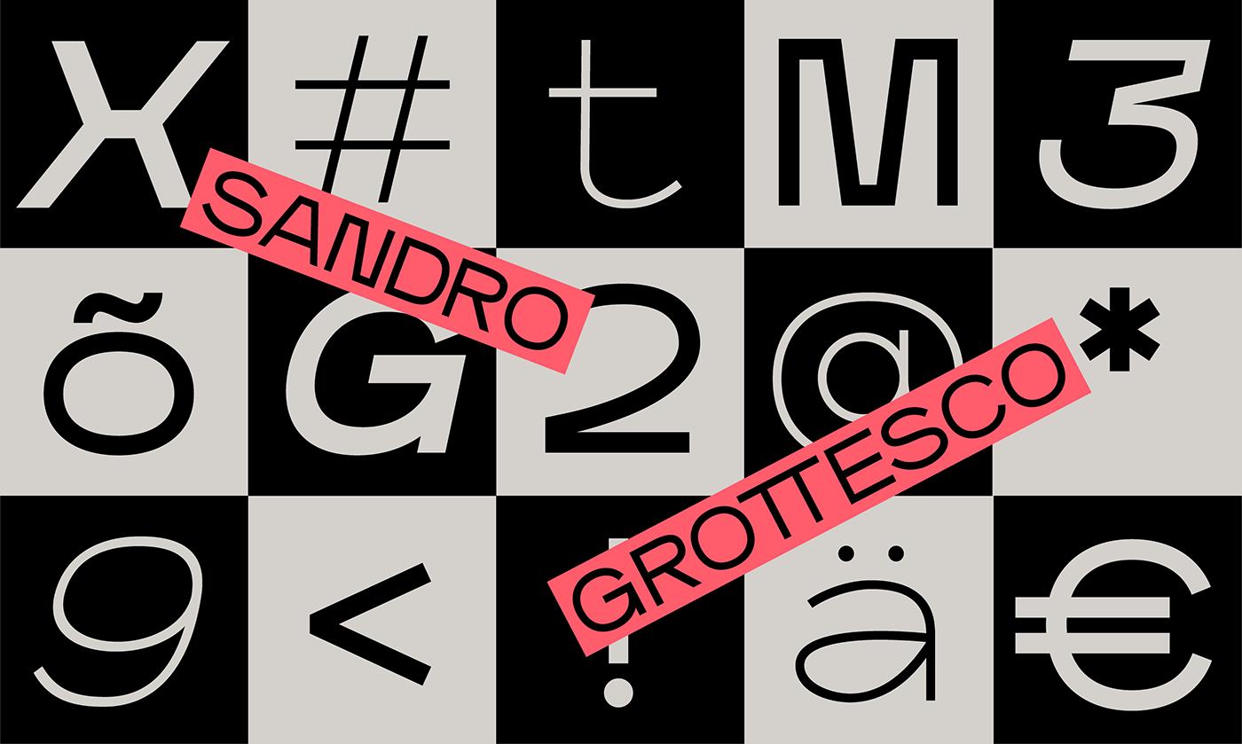 Sandro Grotesco Font Design by Supernulla