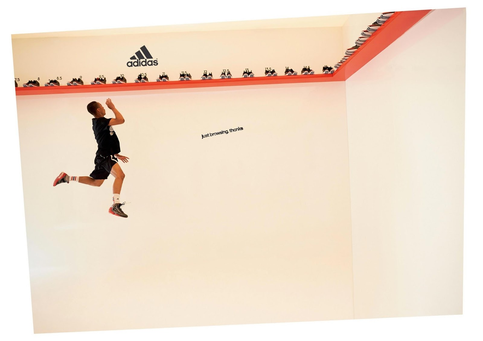 'Just Browsing, Thanks' Adidas ad with Derrick Rose.