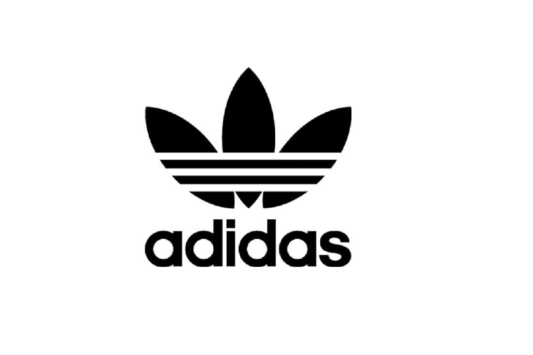 Adidas trefoil logo.
