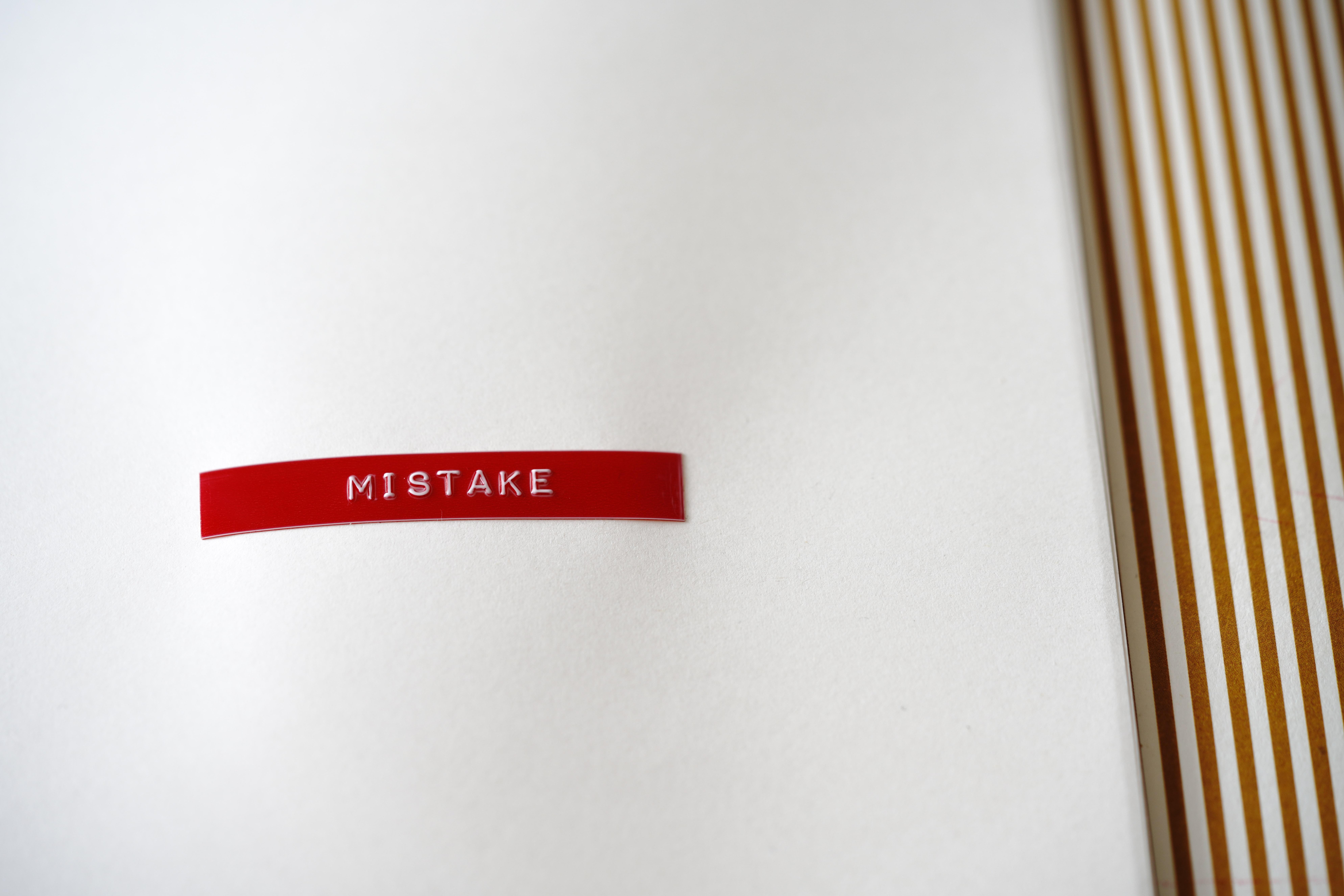 Mistake Inscription