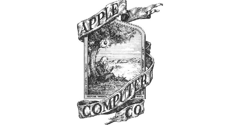 The first Apple logo created by Ronald Wayne.
