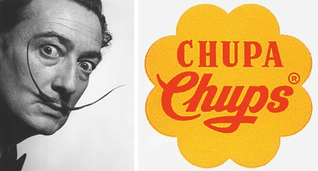 Dali was the man behind the famous lollypop logo design.