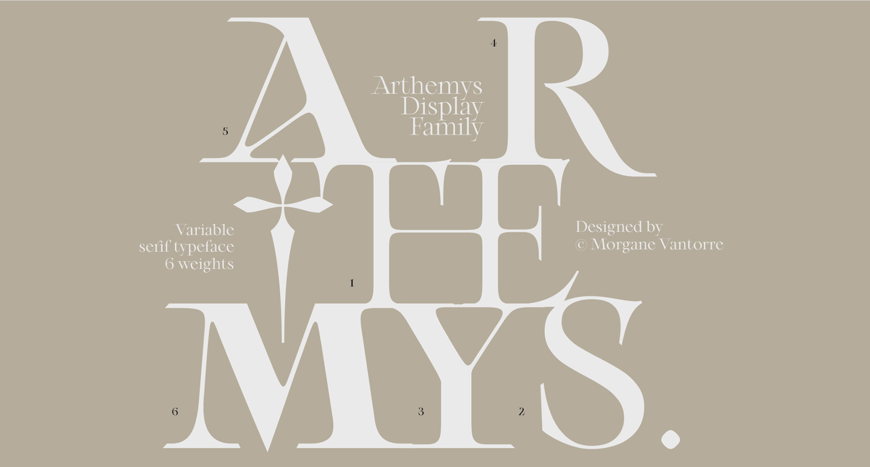 Font Family by Morgane Vantorre