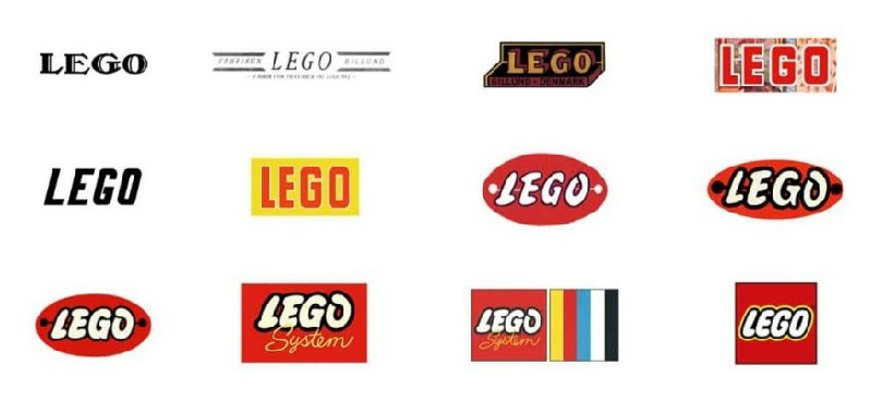 See how Lego logo changed through the years.