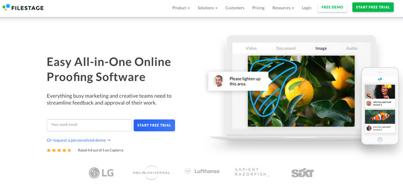 Filestage homepage