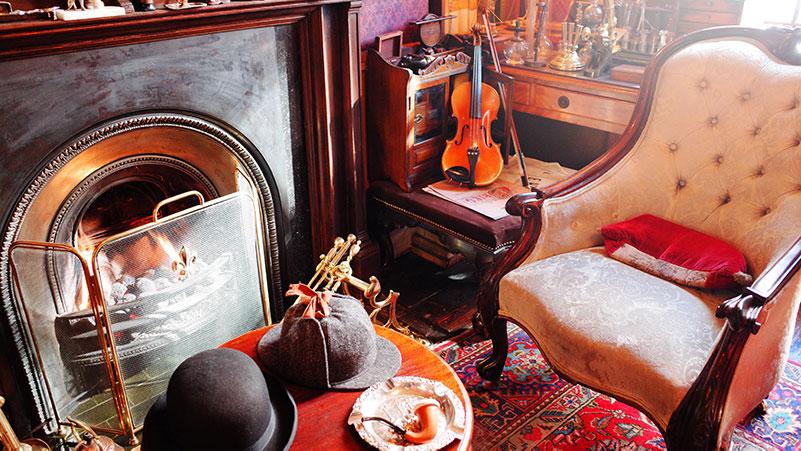 Sherlock's living room