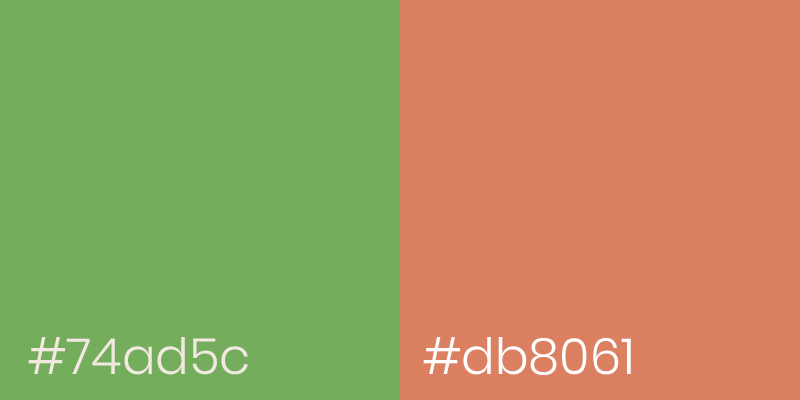 Asparagus Green and Burning Sand color examples