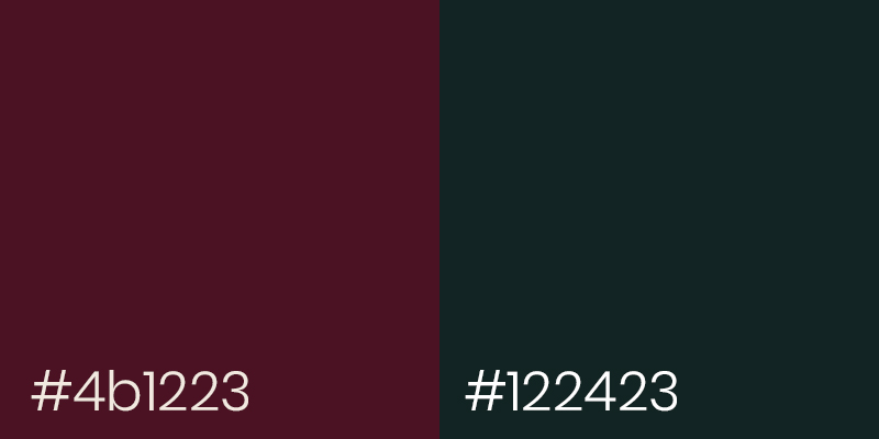 Burgundy Red and Dark Swamp color examples