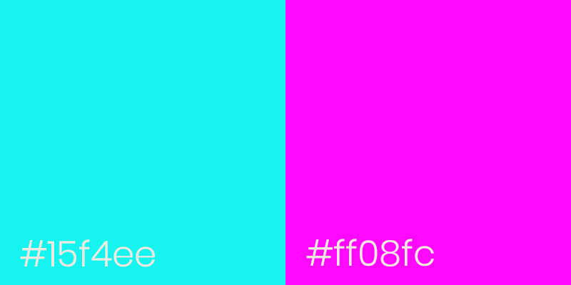 Neon Cyan and Neon Pink color examples