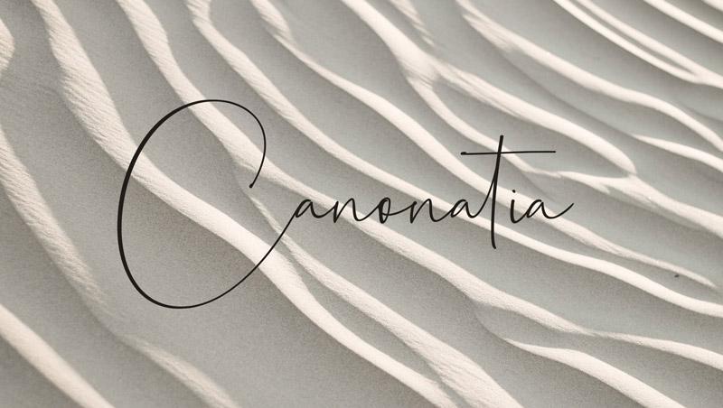 Canonatia font