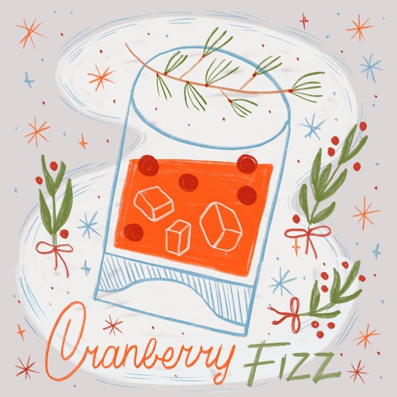 Eszter Nyári's Christmas drink illustration
