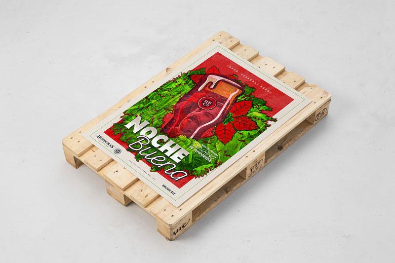 Frank Sandres's Christmas poster design