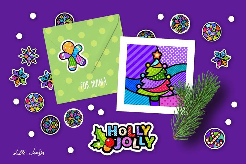Lilli Jemska's Christmas postcard