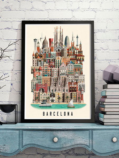Martin Schwartz's Barcelona poster