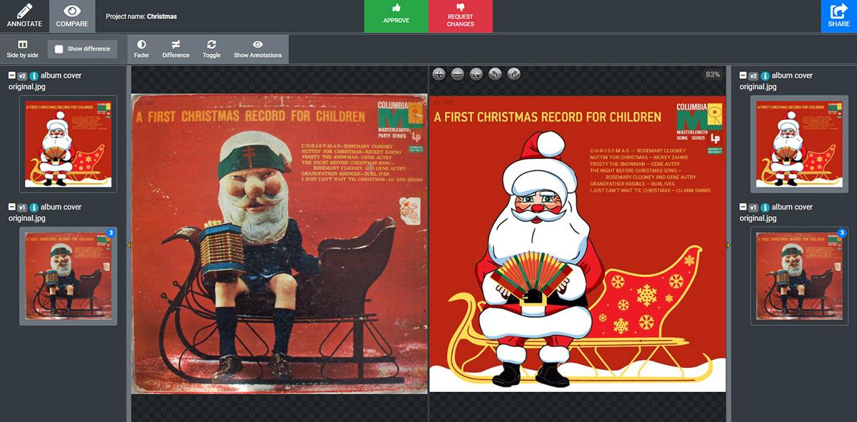 Two album covers comparison