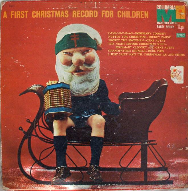 Album cover with creepy Santa
