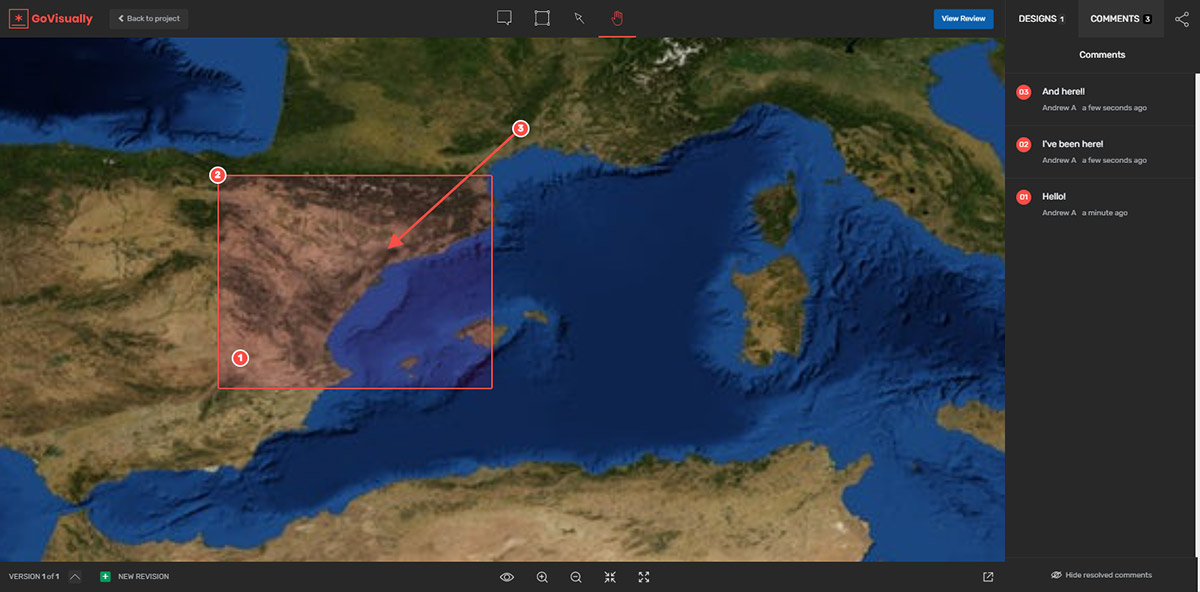 Highlighted zone in GoVisually