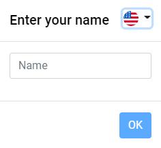 Enter name menu in Approval Studio