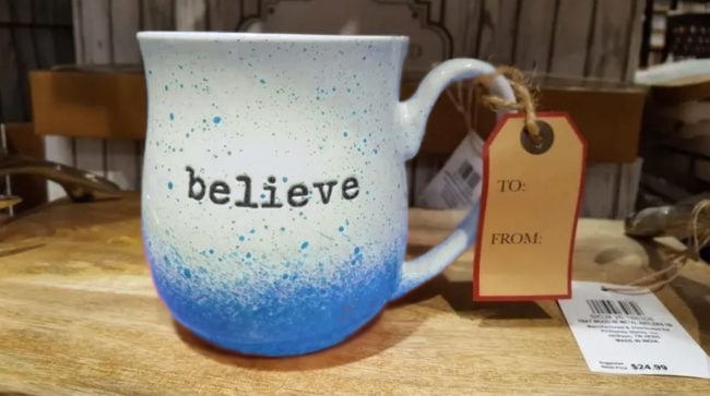 The same cup painted in blue