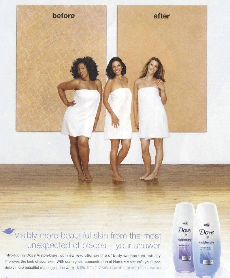 Dry skin sample behind a black woman and a good skin behind a white woman