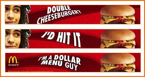 "Ad saying ""I'd hit it"""