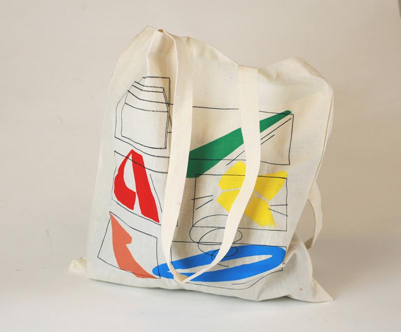 A textile bag design by Sóldís Finnbogadóttir