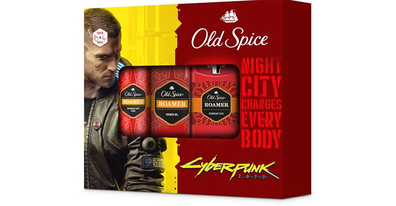 Cyberpunk and Old Spice collaboration package