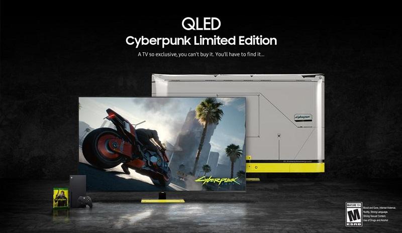 Cyberpunk QLED TV