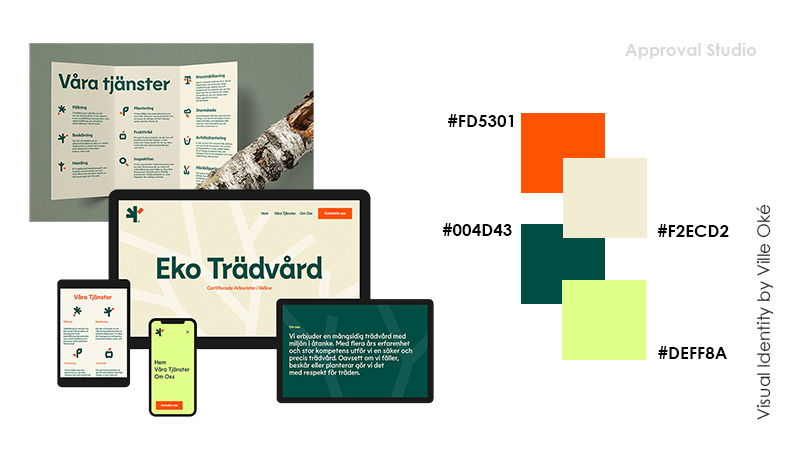 Example of 4 color combination for business identity design