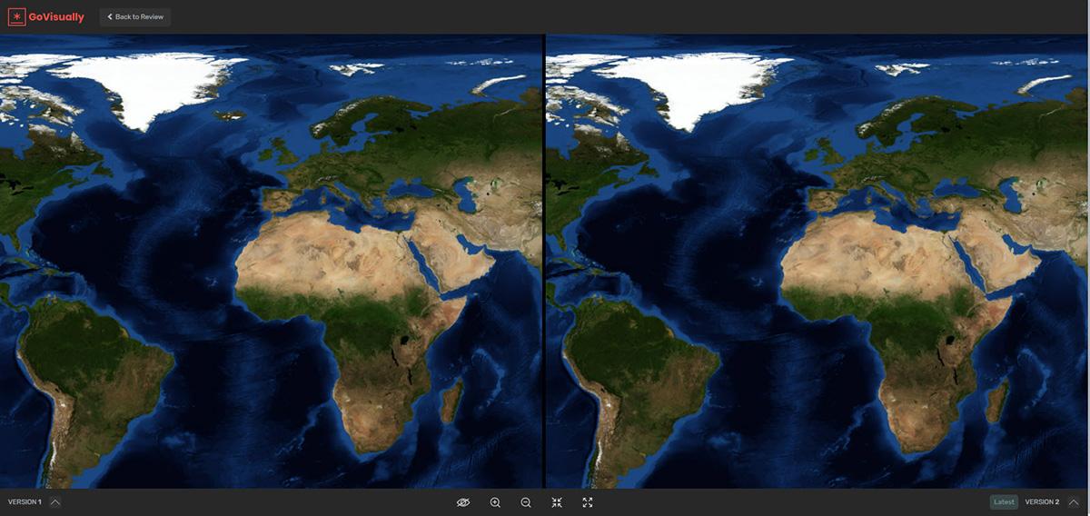 Compare mode in GoVisually