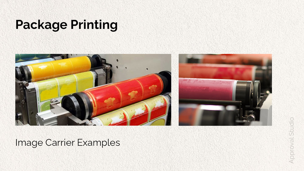 Image carrier example for package printing