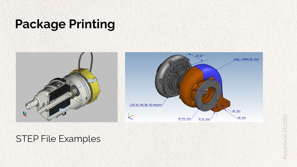 Examples of a STEP file in package printing