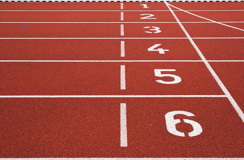 Running tracks of the stadium
