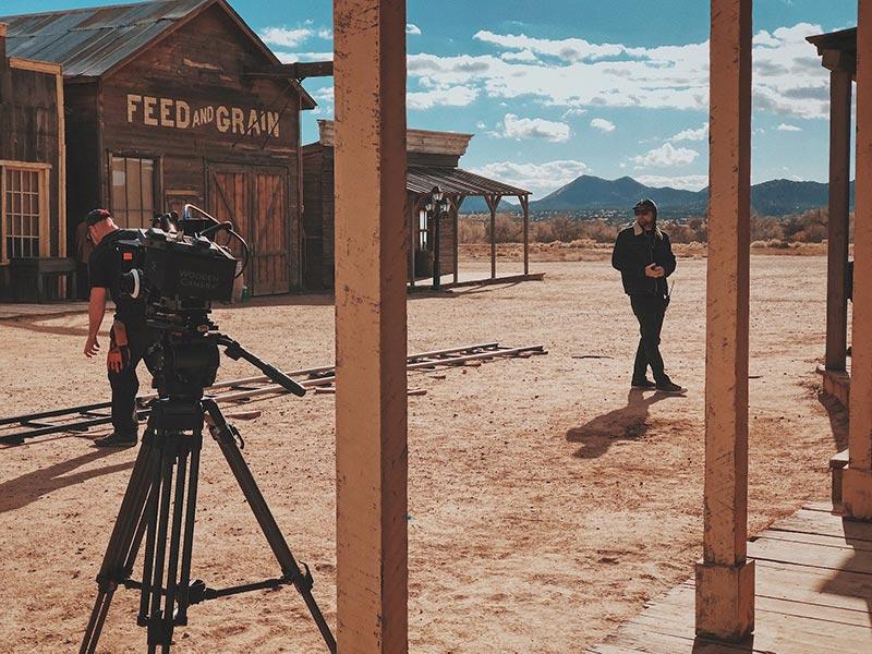 Western movie filmmaking