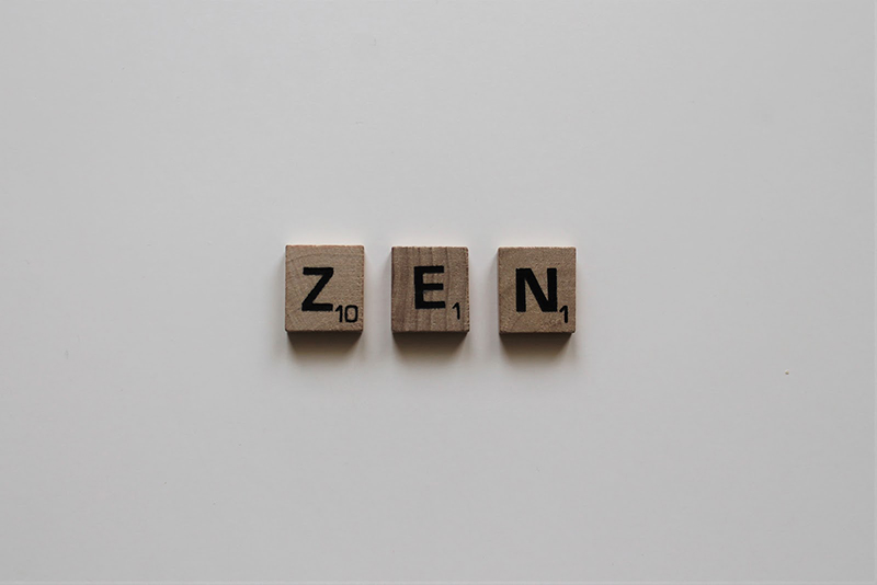 Zen word from the Scrabble game